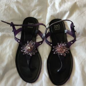 Saks fifth Ave jelly sandals